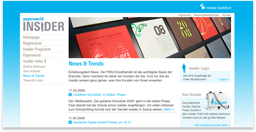 Paperworld Website News und Trends