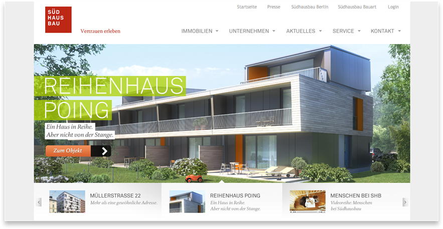 Südhausbau Web Relaunch Website