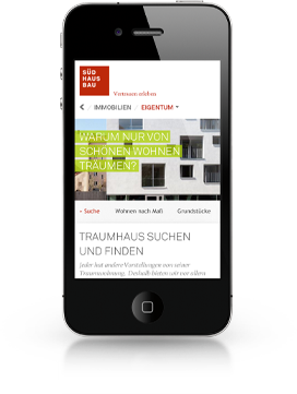 Südhausbau Mobile Web Relaunch