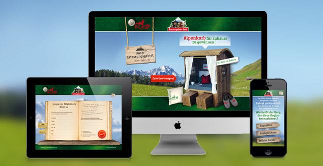 Alpenkorbkampagne mit Gewinnspiel