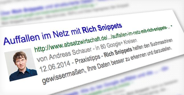 Rich Snippets - Auffallen im Netz