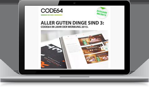 CODE64 Newsletter Ausgabe 06/13