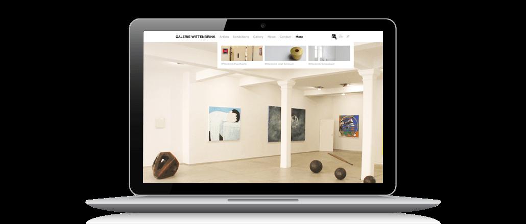 Internetauftritt Galerie Wittenbrink Screen