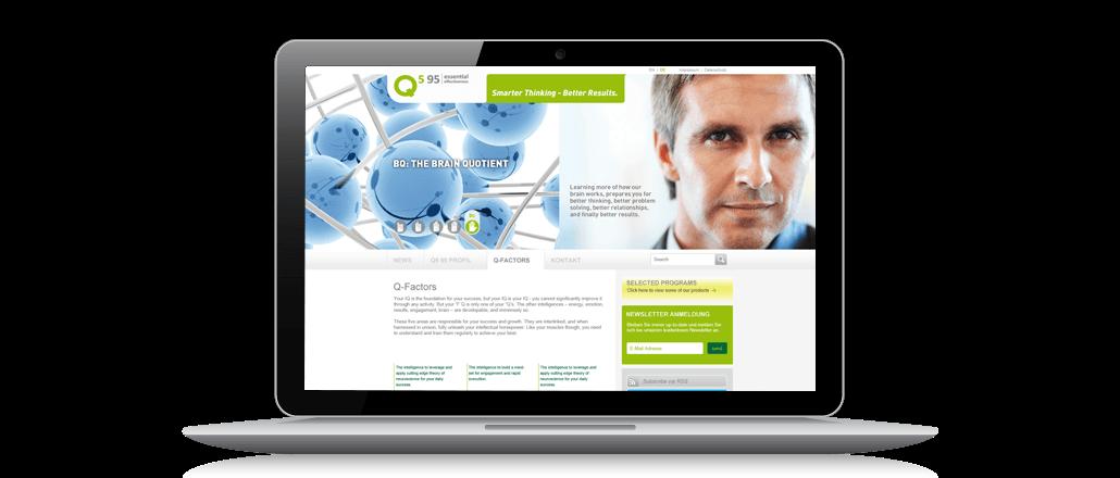 Onlinekommunikation für Q5 95 Screen